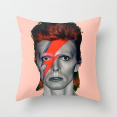 pinky bowie3 Throw Pillow
