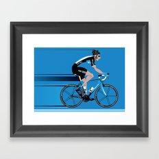 Bradley Wiggins Team Sky Framed Art Print