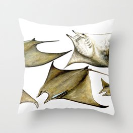 Chilean devil manta ray (Mobula tarapacana) Throw Pillow