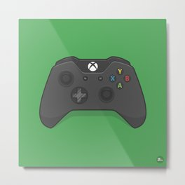 Xbox One Controller Metal Print