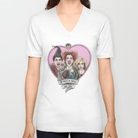 hocus pocus V-neck T-shirts featuring It's all a bunch of Hocus Pocus by Tiffany Willis