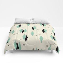 Mid Century diamonds geometrical pattern retro Comforters