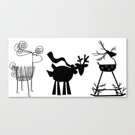 Three Cute Reindeer Canvas Print