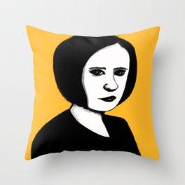 Cutout Yellow Throw Pillow