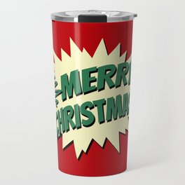 Comic style Christmas design Travel Mug