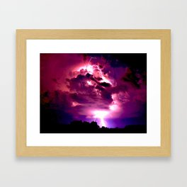 Embrace the Storm Framed Art Print
