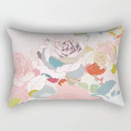 rose roses pastel vintage Rectangular Pillow