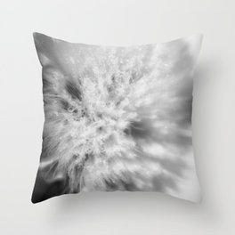 Sign of Winter a sow thistle weed covered in frost Throw Pillow