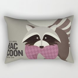 Hello Raccoon Rectangular Pillow