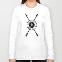 spiritual Long Sleeve T-shirts featuring Spiritual Warrior by Intuitive Whimsy