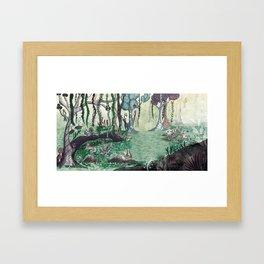 Forest / Bosque Framed Art Print
