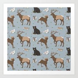 Rocky Mountain Critters Art Print