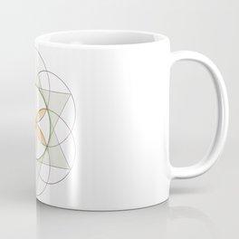 Orange Flower of Life, Sacred Geometry, Crystal Grid/Mandala Coffee Mug