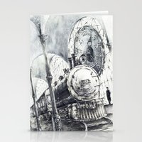 train Stationery Cards featuring Train by Grim Dream Art