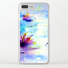 Waterlily in the Moonlight Clear iPhone Case