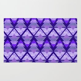 Geometric Forest on Purple Rug