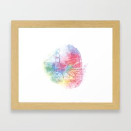 Double Rainbow Framed Art Print