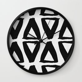 Black and White Abstract II Wall Clock