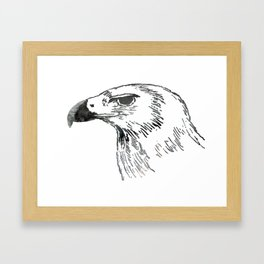 eagle portrait Framed Art Print