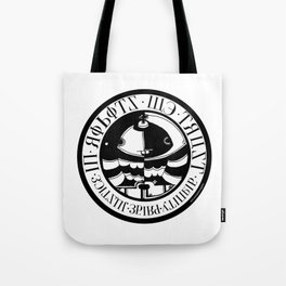 In Robots We Trust Tote Bag