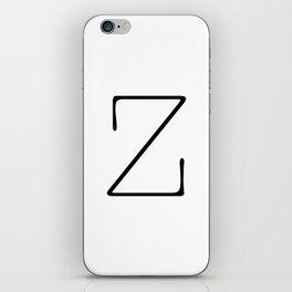 Letter Z Typewriting iPhone Skin