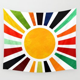 Sun Retro Art Wall Tapestry
