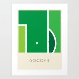 Soccer (Sports Surfaces Series, No. 19) Art Print