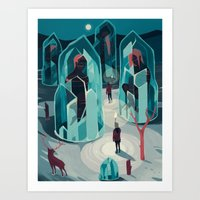 ice Art Prints featuring Ice age by Reno Nogaj