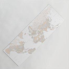 Light brown world map, highly detailed Yoga Mat