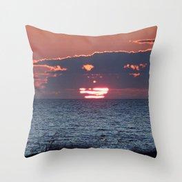 Sun on the Sea Throw Pillow