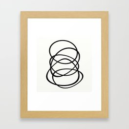 Come Together - Black and white, minimalistic, abstract, art print Framed Art Print