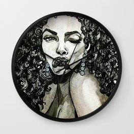 Curly Hair Wall Clock