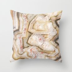 Marble Natural Throw Pillow