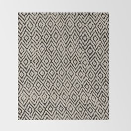 Boho Diamonds inverse Throw Blanket