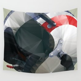Tag Heuer Steve McQueen Cafe Racer Helmet Polygon Art Wall Tapestry