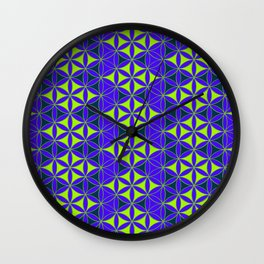 Flower of Life Pattern 8 Wall Clock