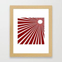 Rising Sun Japanesse Sun Rise Framed Art Print
