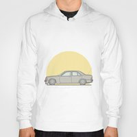 mercedes Hoodies featuring Mercedes-Benz 190E 2.5 Cosworth vector illustration by Underground Worm