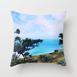 Fine, Fine Torrey Pine Throw Pillow