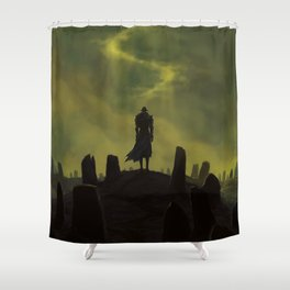Dying alone Shower Curtain