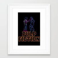 pulp fiction Framed Art Prints featuring Pulp Fiction by Studio 401