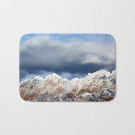 Desert Mountains with Snow Bath Mat