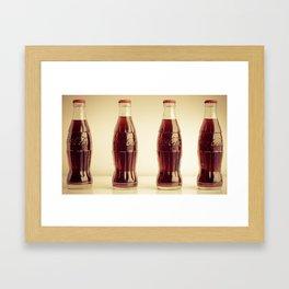 Four bottles Framed Art Print