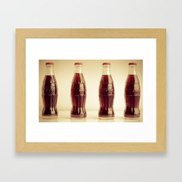 Four bottles Framed Art Print