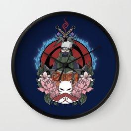 Silver Shinobi Wall Clock
