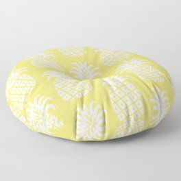 Retro Mid Century Modern Pineapple Pattern 732 Yellow Floor Pillow