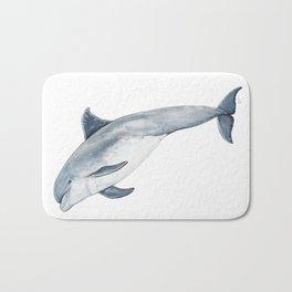 Bottlenose dolphin jump Bath Mat