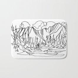 Ice Creek Lake, Valhallas :: Single Line Bath Mat