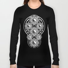 Seven Yin Yang Symmetry Balance Energy Long Sleeve T-shirt