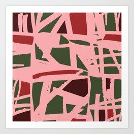 Christmas Geometry Art Print